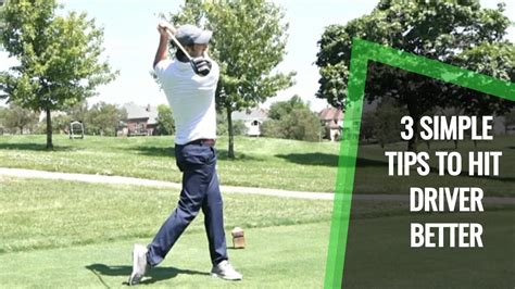 How To Hit Longer Drives And Be Consistent: 3 Simple Golf Tips.