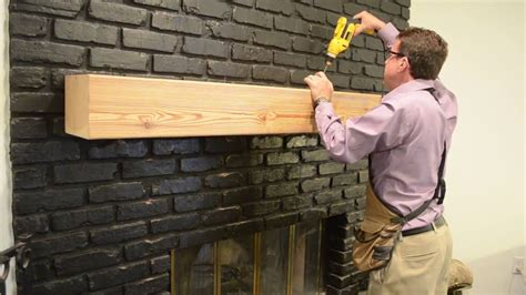 How To Install A Fireplace Mantel On Brick