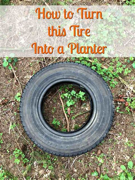 How To Make Planter Out Of A Tire