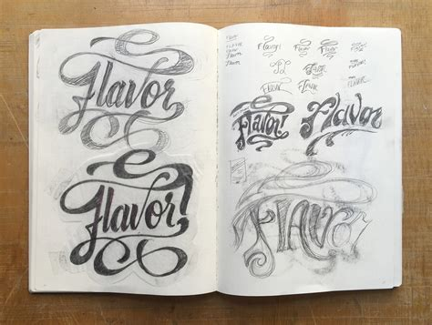 How To Sketch Unique Lettering Pieces — Efdot Studio.