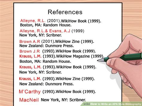 How to write reference page