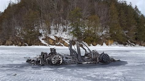[click]how A Tesla X Caught Fire On A Frozen Lake Without Sinking .