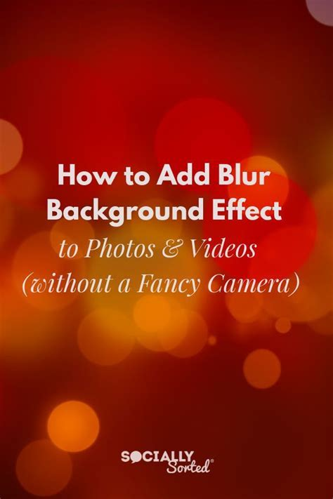 How To Add Blur Background Effect To Smartphone Photos And Videos.