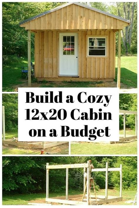 How To Build A 12x20 Cabin On A Budget Tiny Houses Tiny House.
