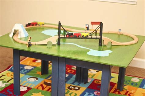 [click]how To Build A Train Table  Toy Train Center.
