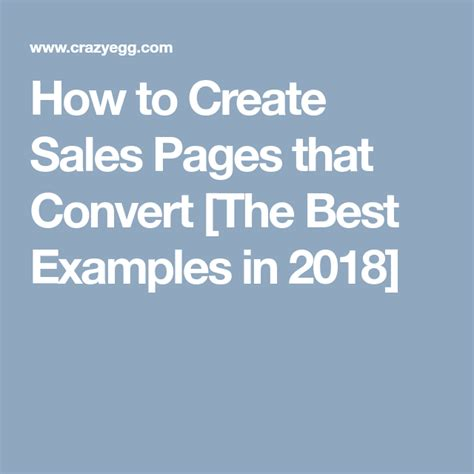 How To Create Sales Pages That Convert [the Best Examples In 2018].