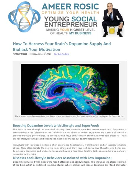 How To Harness Your Brains Dopamine Supply And Increase.