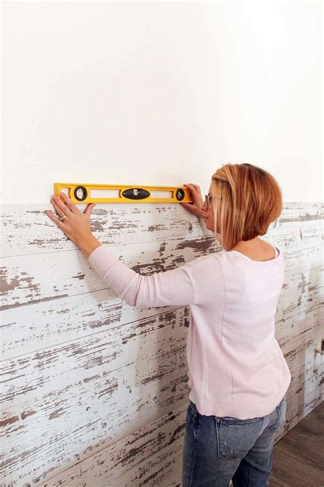How To Install A Wood Plank Wall - Blog Homedepot Com.
