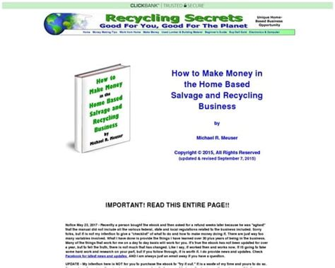 [click]how To Make Money In The Home Based Salvage And Recycling .