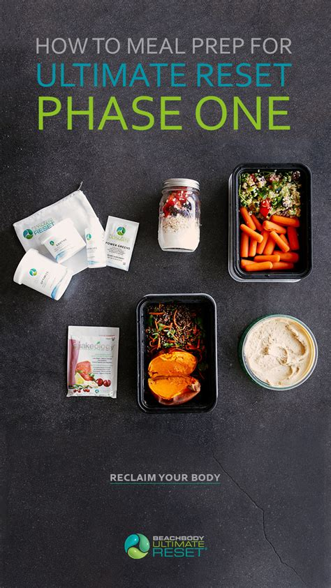 How To Meal Prep For Ultimate Reset (phase One) The Beachbody.