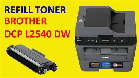 How To Refill Cartridges Of Brother Dcp-L2540dw Laser Printer.