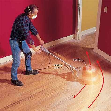 @ How To Refinish Wood Floors  Buffing Hardwood Floors.