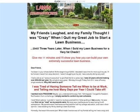 [click]how To Start A Lawn Business - Lawncompanysecrets Com.