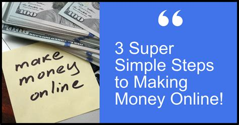 How To Make Money Online Freelancing - 3 Super Simple Steps.