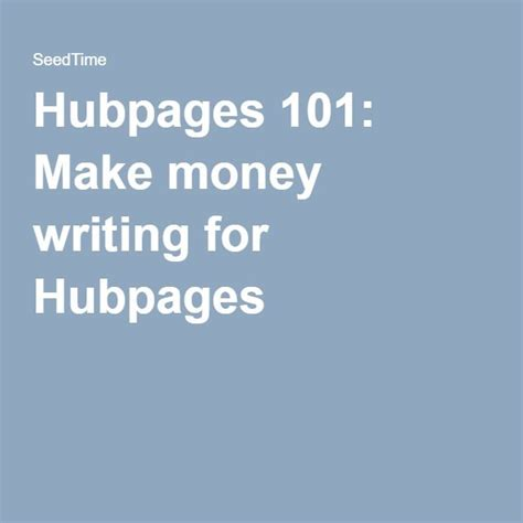 Hubpages 101: Make Money Writing For Hubpages - Christianpf.