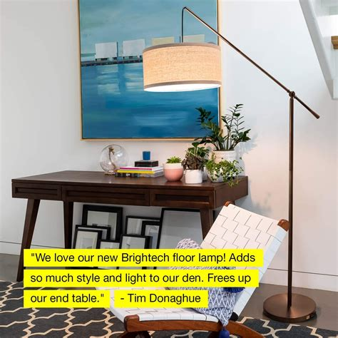 Hudson - Living Room Led Arc Floor Lamp For Behind The Couch.