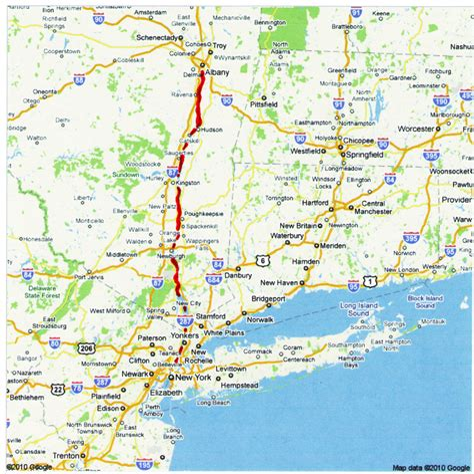 Hudson New York Map