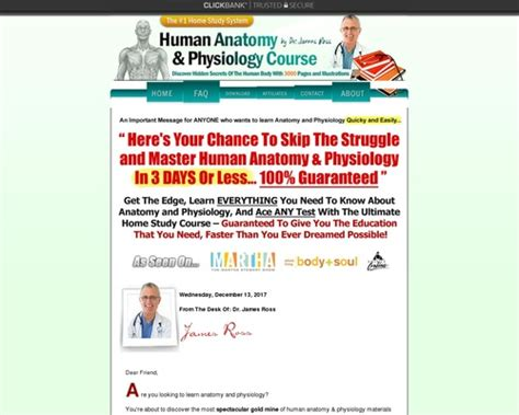 [click]human Anatomy  Physiology Study Course - 55 81 Per Sale - 75 Comms.