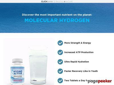 @ Hydroactive Molecular Hydrogen Tablets Prodcuts Review.
