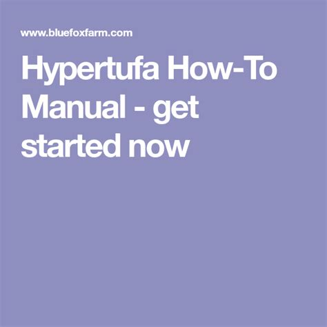 @ Hypertufa How-To Manual - Get Started Now.