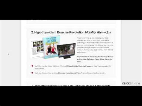 [click]hypothyroidism Exercise Revolution Program By Tom Brimeyer - Is It Any Good .