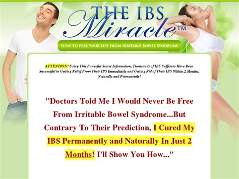 Ibsmiracle :: The Ibs Miracle (tm) With Free 3 Months.