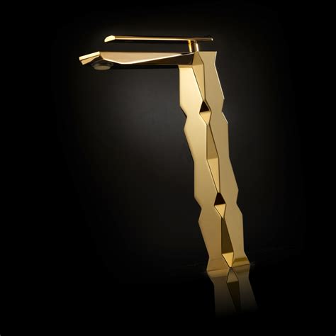 Ikon Polished Gold Luxury Vessel Sink Faucet.