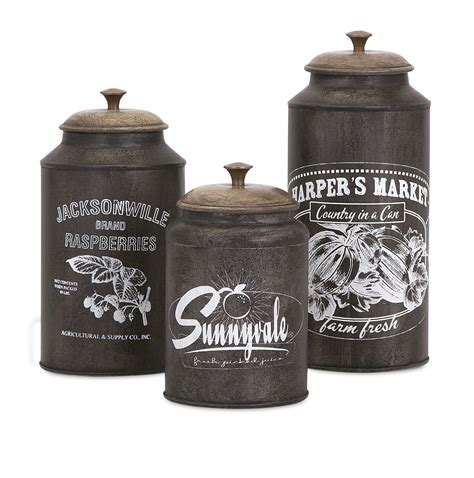 Imax Corporation Darby 3 Piece Metal Canister Set In Brown .