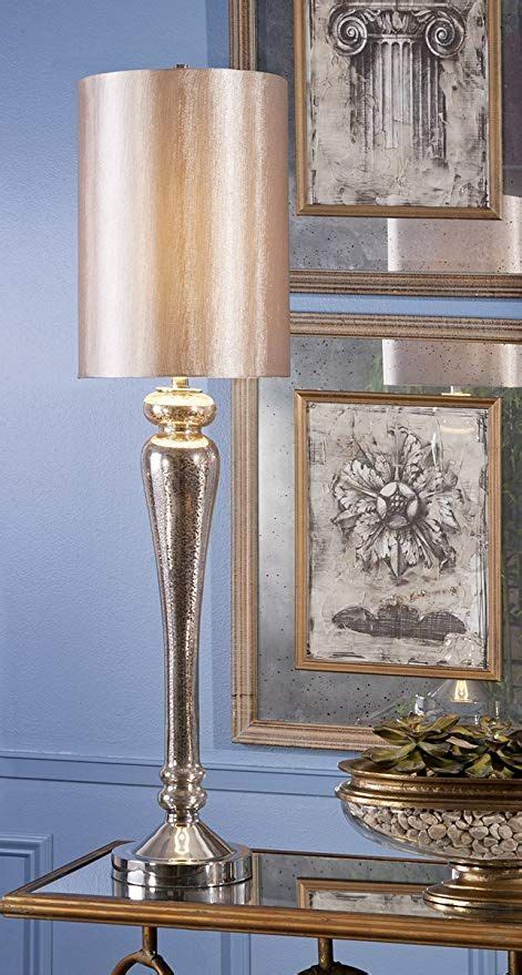Imax 86601 Rennes Mercury Glass Table Lamp Tall.