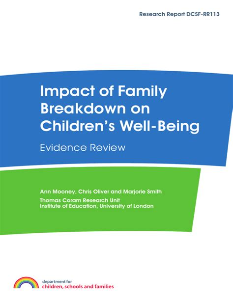 [pdf] Impact Of Family Breakdown On Children  S Well-Being.
