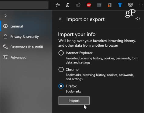 [click]import Chrome Ie Or Firefox Bookmarks Into Microsoft Edge.