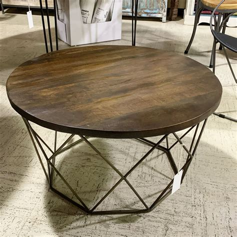 Industrial Coffee Table Round