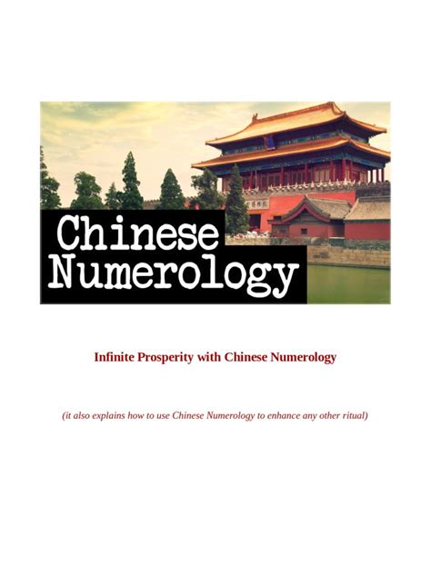 [pdf] Infinite Prosperity With Chinese Numerology.