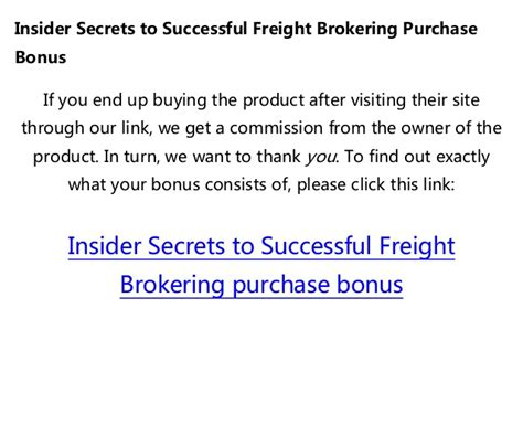 [click]insider Secrets To Successful Freight Brokering.