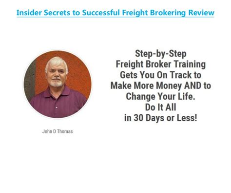 [click]insider Secrets To Successful Freight Brokering Review.