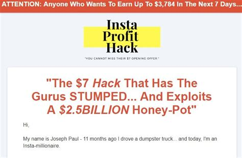 Insta Profit Hack Review - [truth Revealed] $3,784 In A Week Or.