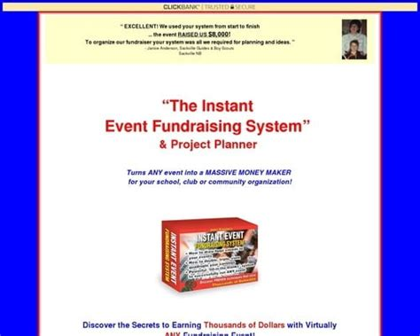 Instant Event Fundraising System.