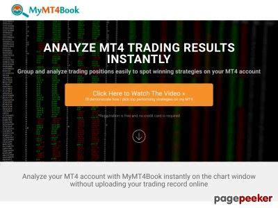 [click]instant Forex Trading Analysis With Mymt4book On .
