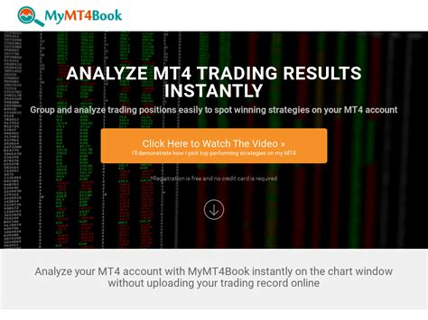 [click]instant Forex Trading Analysis With Mymt4book On Metatrader 4.