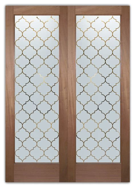 Interior Glass Doors - Obscure Frosted Glass Ogee Ps Pair .