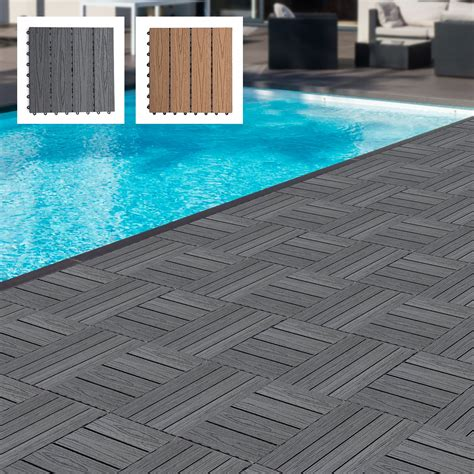 Interlocking Composite Wood Patio Deck Tiles - Sears Com.