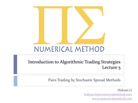[pdf] Introduction To Algorithmic Trading Strategies Lecture 1.