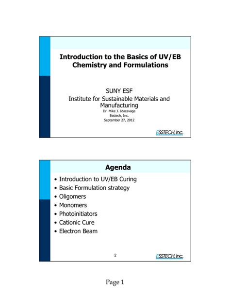 [pdf] Introduction To The Basics Of Uv Eb Chemistry And Formulations.