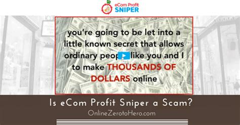 Is Ecom Profit Sniper A Scam? (spot The Warning Signs).