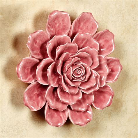 Isabella Ceramic Flower Blossom Wall Art - Touch Of Class.