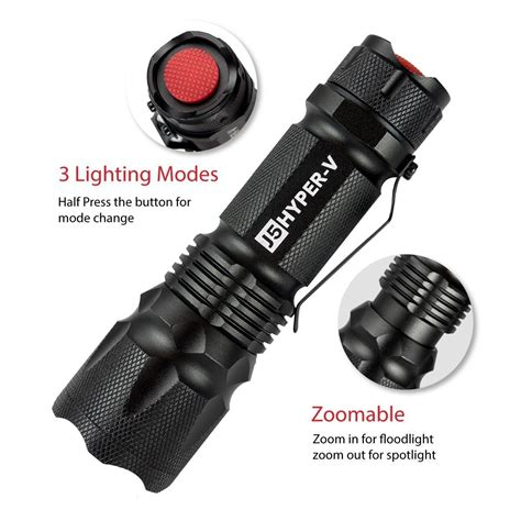 [click]j5 Hyper V Tactical Flashlight   Survivalkit Com.