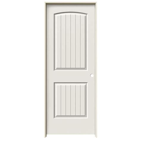 Jeld-Wen Santa Fe White 2-Panel Round Top Plank Hollow .