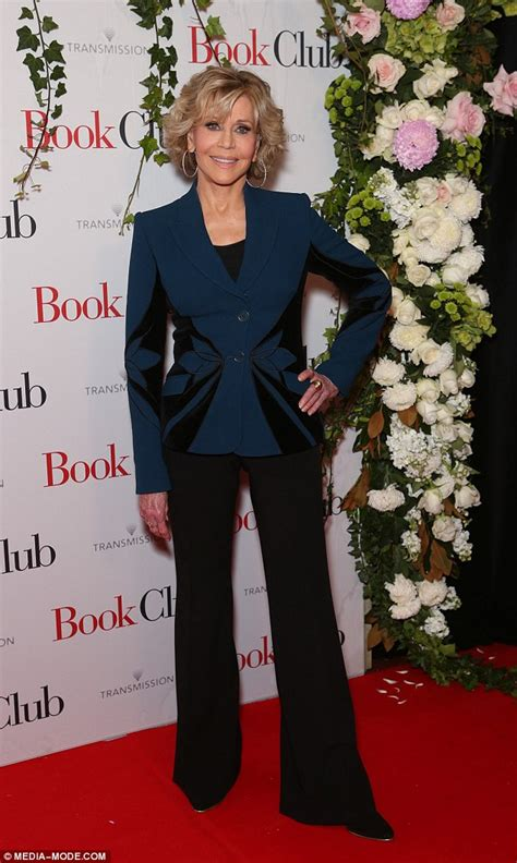 Jane Fonda Wears Dazzling Power Suit As The Stars Step Out For The.
