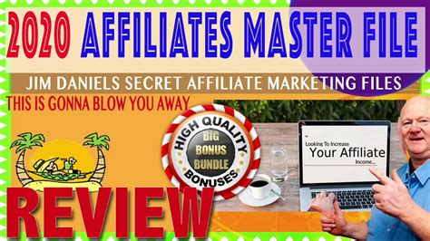 @ Jim Daniels 2019 Affiliate Marketing Master Swipe Files Review Bonus.