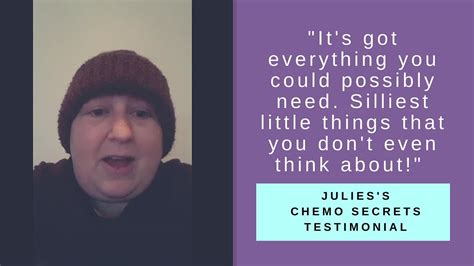 @ Julie S Chemo Secrets Testimonial - Tips From A Young Breast Cancer Survivor.